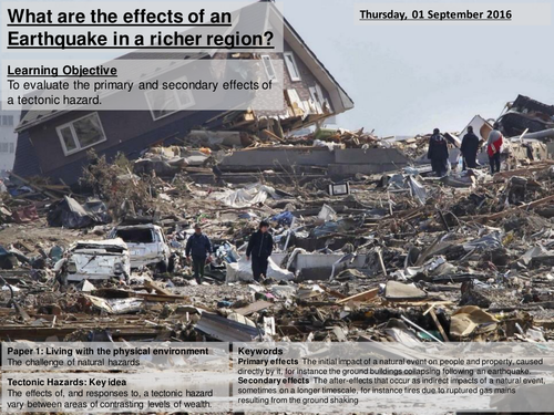 Impacts of Natural Hazard in richer country - Kobe, Japan - AQA2016