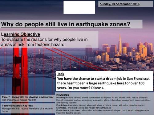 Living in Areas of Hazard Risk - AQA2016