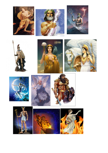 12 Greek Gods of Olympus Activity - KS2 Ancient Greece with interactive quiz