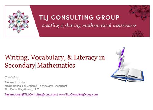 Writing, Vocabulary & Literacy in Secondary Mathematics