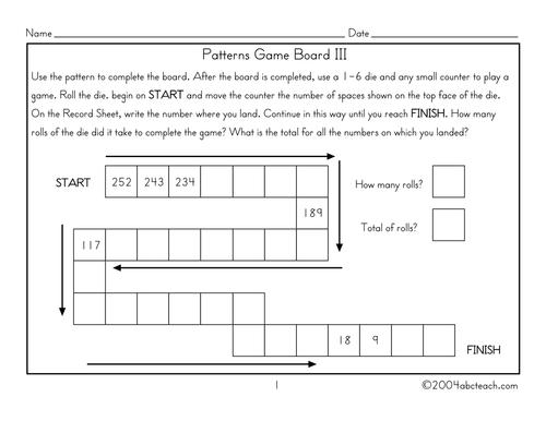 Board Game: Pattern (3)