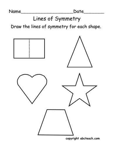 Drawing Lines Of Symmetry : Worksheet lines of symmetry primary by abcteach