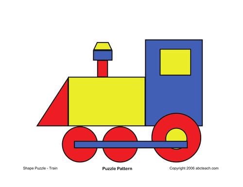 Shape Puzzle: Train (color)