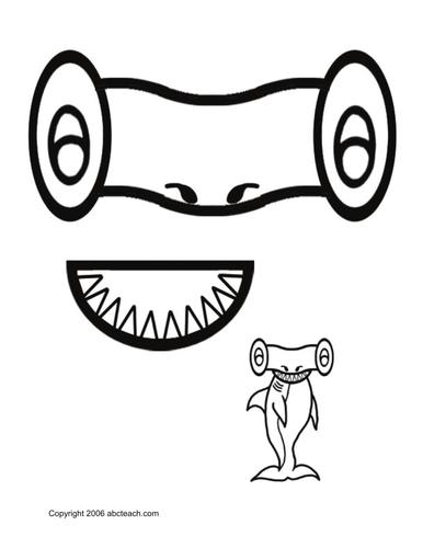Paper Bag Puppet: Animals - Hammerhead Shark