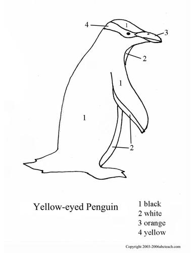 Color By Number: Penguins (set 2)
