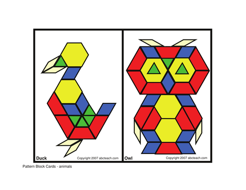 Pattern Block: Animals (elem/upper elem)