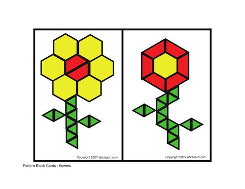 Pattern Block: Flowers (elem/upper elem)