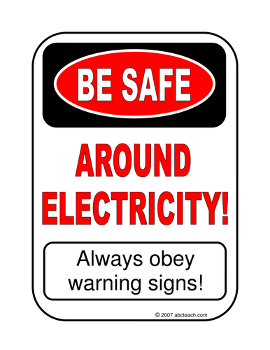 Posters: Electric Safety (primary/elem)