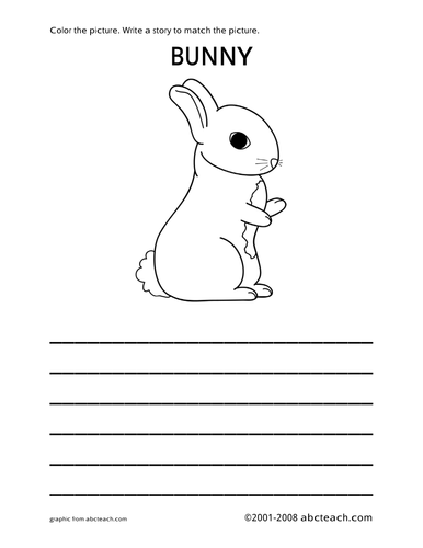 Color and Write: Bunny (primary)