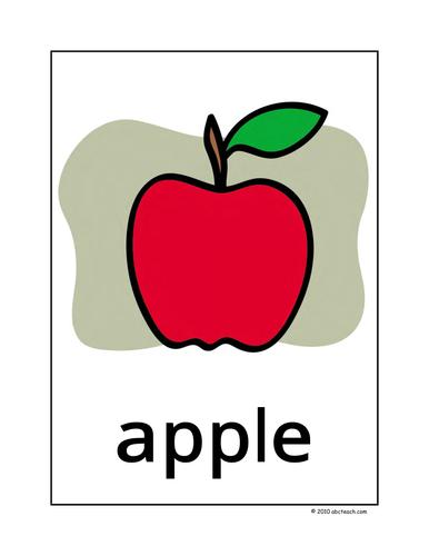 Dolch Nouns: Posters A-C (color) (k-1/elem)