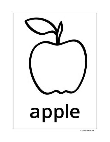 Dolch Nouns: Posters A-C (b/w) (k-1/elem)
