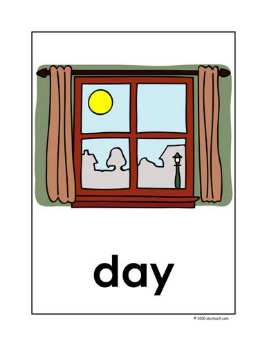 Dolch Nouns: Posters D-G (color) (k-1/elem)