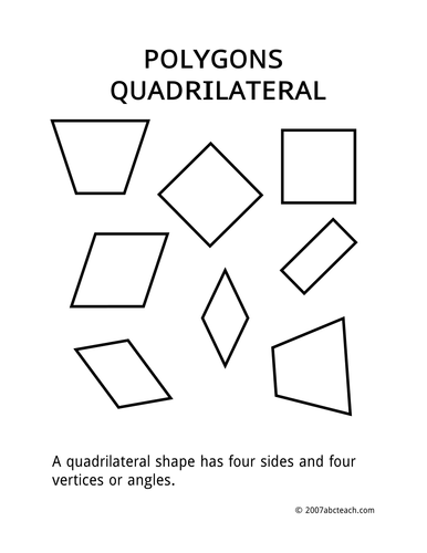 Posters: Shapes - Quadrilateral