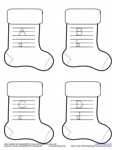 Shapebook: Alphabet Christmas Stocking (ZB-Style Font)