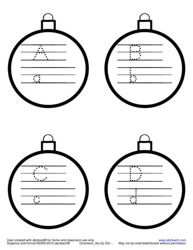 Shapebook: Alphabet Christmas Ornament (ZB-Style Font)