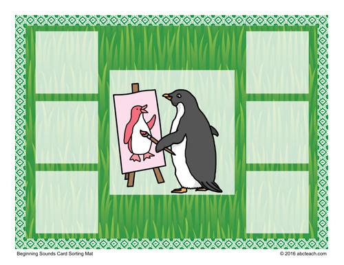 Beginning Sounds: Card Sorting Mats - Alphabet Animals P to T