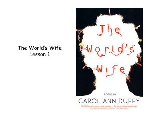 Selection of Poetry from Duffy's The World's Wife