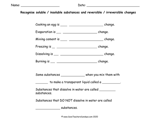 Reversible Irreversible Change Full Scheme Ks2 Ks3 By Erhgiez