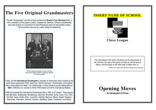 Chess booklet