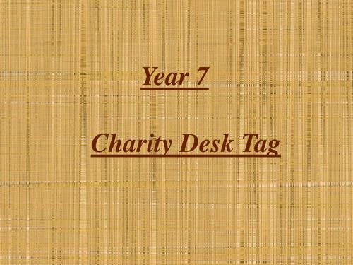 Charity Desk Tag Project