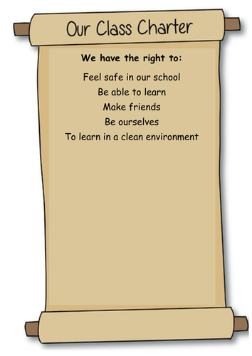 Editable Class Charter By Caitrionahansen