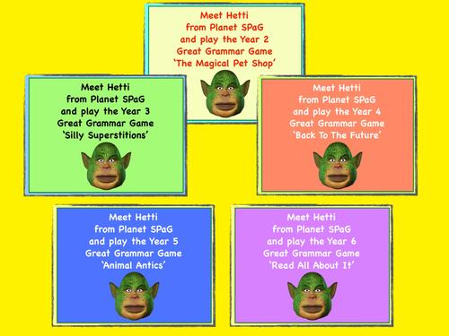 SPaG Grammar Games