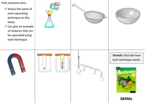 Separating Mixtures KS3 SOW by flaffey Teaching Resources TES – Separation of Mixtures Worksheet