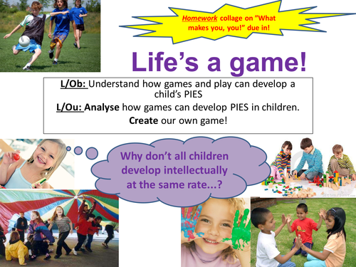 EdExcel GCSE Health & Social Care- Unit 1- Human Growth & Development- Life's a game!