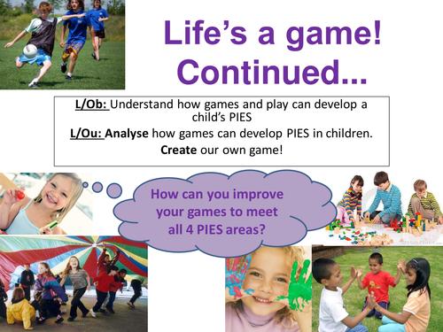 EdExcel GCSE Health & Social Care- Unit 1- Human Growth & Development- Life's a game- continued!