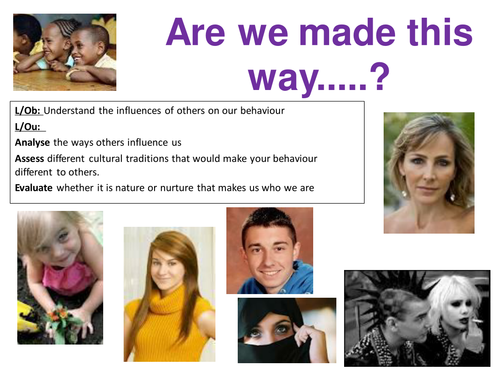 EdExcel GCSE Health & Social Care- Unit 1- Human Growth & Development- Are we made this way?