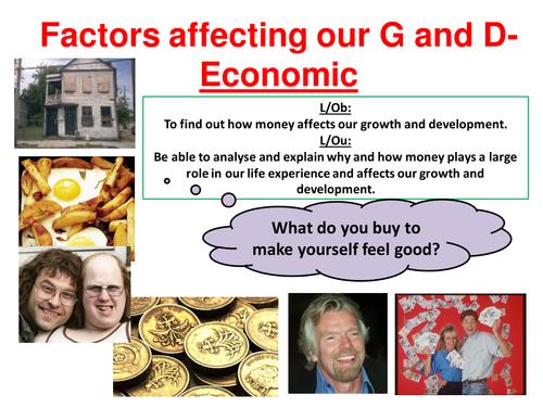 EdExcel GCSE Health & Social Care- Unit 1- Human Growth & Development- Economic factors