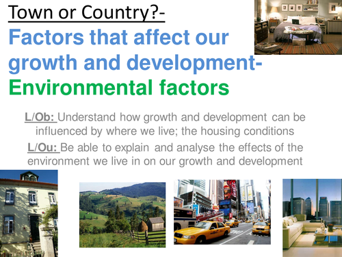 environmental factors of human growth Start studying human growth and development personal and environmental circumstances that can in a specific population are due to genetic factors.