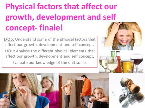 EdExcel GCSE Health & Social Care- Unit 1- Human Growth & Development- lessons bundle for Factors affecting PIES development