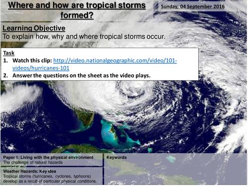 Where and How do Tropical Storms Form? - AQA2016