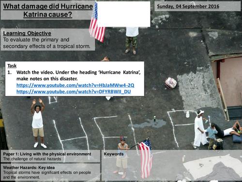 Hurricane Katrina - AQA2016