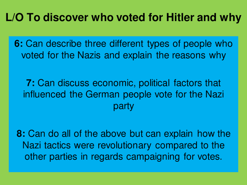 Why did the Germans vote for Hitler?