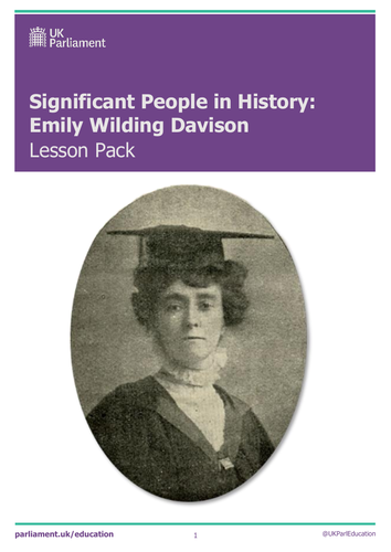 Emily Wilding Davison primary assembly and lesson plan
