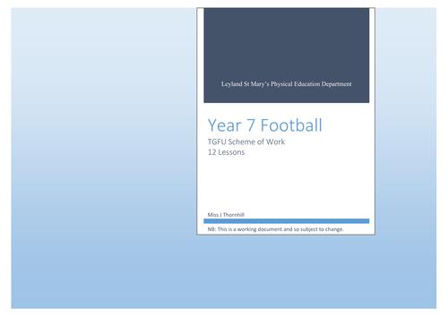 TGFU Football Scheme of Work - Year 7
