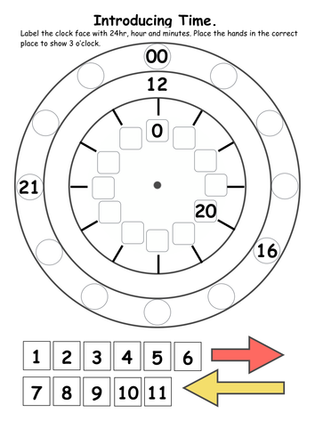 year 4 12 hour clock by gemmajoanwaite teaching resources tes. Black Bedroom Furniture Sets. Home Design Ideas