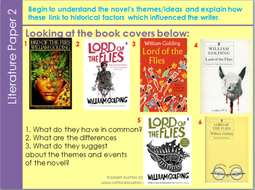 Unit of work: Lord of the Flies for new Literature specification