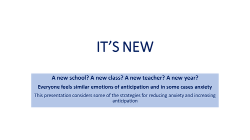 Managing Anxiety at the Start of a New School Year