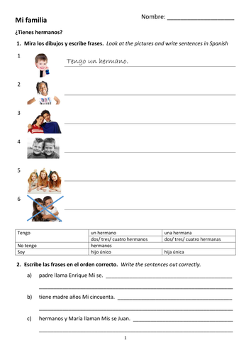 La Familia Spanish Family Tree Questions Worksheet by ... - photo#40