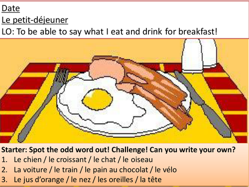 Lesson PowerPoint - Food and drink (breakfast)