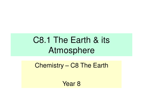 Activate KS3 Science - Module C8 The Earth (V1.0)