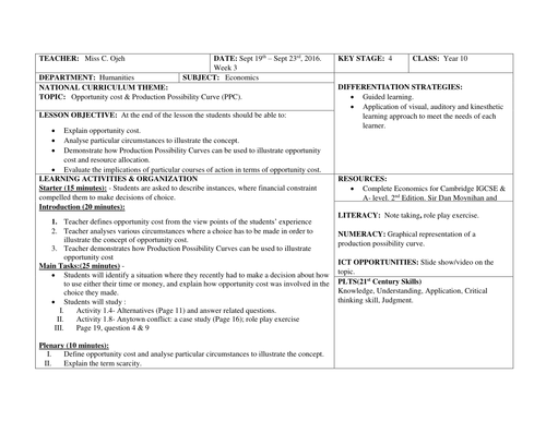 production possibilities curve worksheet pdf