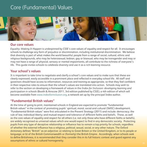 Core (Fundamental) Values