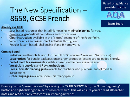 New French GCSE (AQA), Theme 1:Identity and Culture-Relationships-LESSON A&B - Personal Details