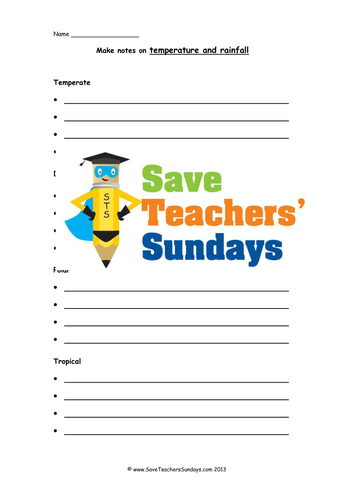 Note Taking Lesson Plan and Writing Frames by SaveTeachersSundays ...