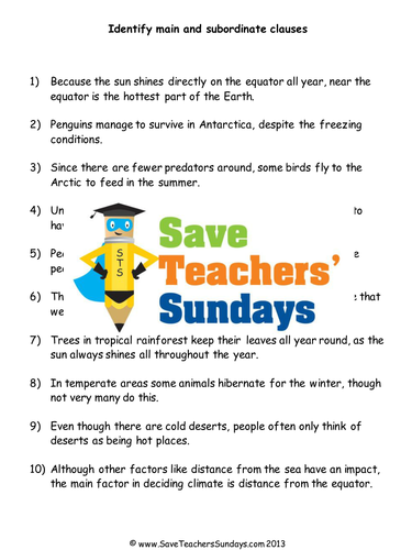 Possessive Nouns Worksheets 2nd Grade Pdf Save Teachers Sundays  Teaching Resources  Tes Adding Decimals Word Problems Worksheet with Series And Parallel Circuits Worksheets Excel Main Clauses And Subordinate Clauses Lesson Plan And Worksheet Worksheets For Common And Proper Nouns Pdf
