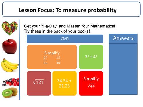 Probability! (Intro, Sample space, Venn diagrams, Tree diagrams, Relative frequency)
